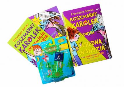 Pakiet Superzaskakująca guma do żucia + Koszmarny Karolek kontra Wredna Wandzia   - Francesca Simon  | okładka