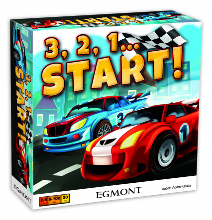 3,2,1… START! - gra planszowa -  | okładka
