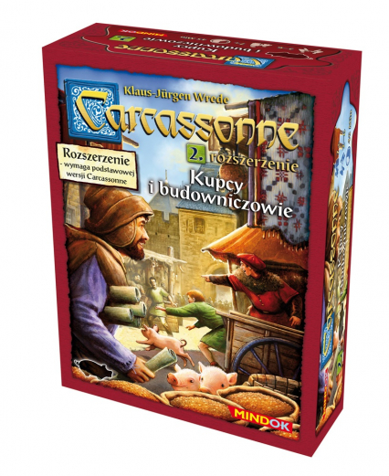 Carcassonne - Kupcy i Budowniczowie - rozszerzenie do gry planszowej - Klaus-Jürgen Wrede | okładka