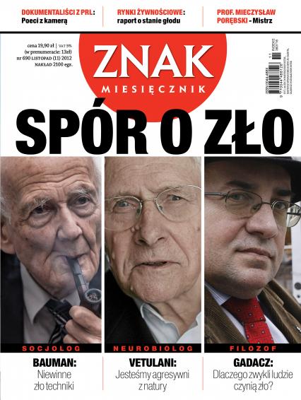 ZNAK 690 11/2012: Spór o zło -  | okładka