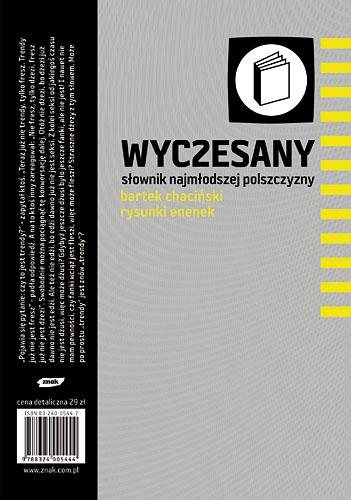 Wyczesany słownik najmłodszej polszczyzny - Bartek Chaciński  | okładka