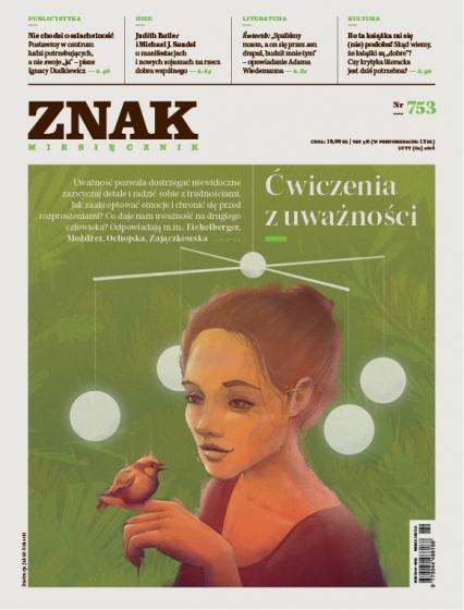 ZNAK 753 2/2018: Ćwiczenia z uważności -  | okładka