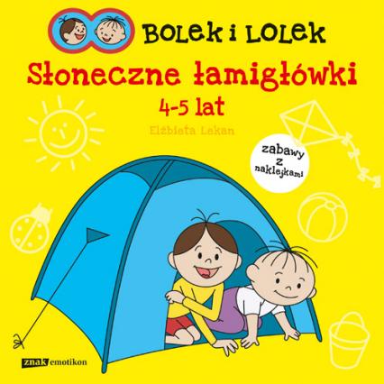 Bolek i Lolek. Słoneczne łamigłówki - Elżbieta Lekan  | okładka