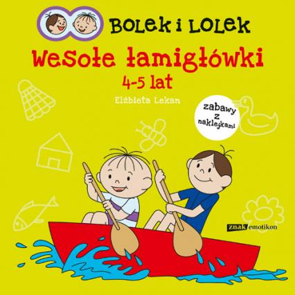 Bolek i Lolek. Wesołe łamigłówki - Elżbieta Lekan  | okładka