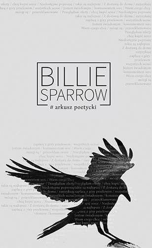 Arkusz poetycki - Billie Sparrow / Weronika Szymańska  | okładka
