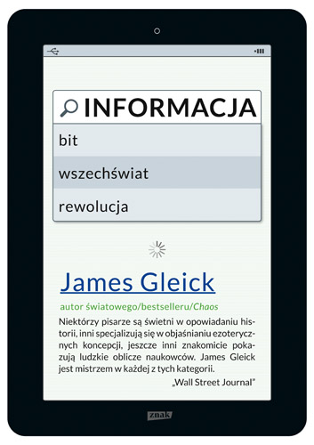 Informacja. Bit, wszechświat, rewolucja - James Gleick  | okładka