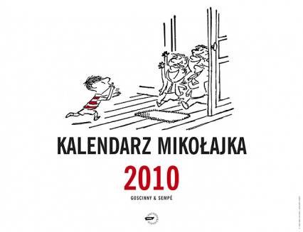 Kalendarz Mikołajka 2010 (ścienny) - René Goscinny, Jean-Jacques Sempé  | okładka