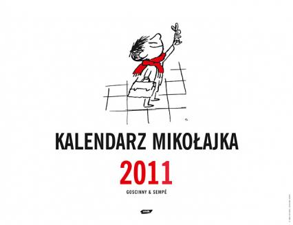 Mikołajek. Kalendarz ścienny 2011 - René Goscinny  | okładka