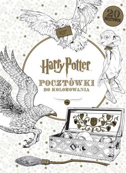 Harry Potter. Pocztówki do kolorowania - Opracowanie Zbiorowe | okładka