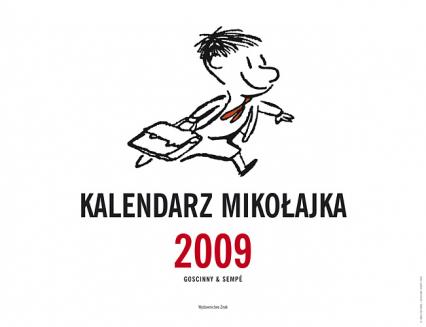 Kalendarz Mikołajka 2009 - René Goscinny, Jean-Jacques Sempé  | okładka
