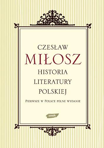 Historia literatury polskiej - Czesław Miłosz  | okładka