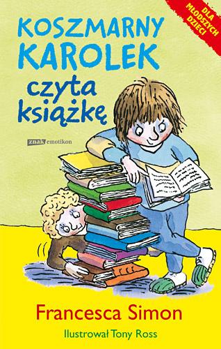 Koszmarny Karolek czyta książkę - Francesca Simon  | okładka