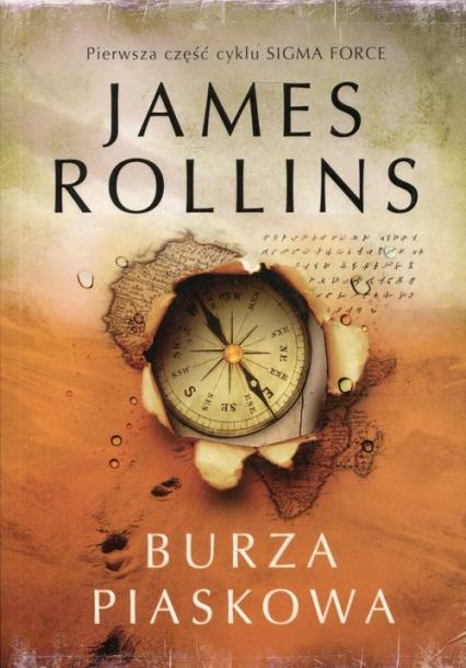 Burza piaskowa - James Rollins | okładka