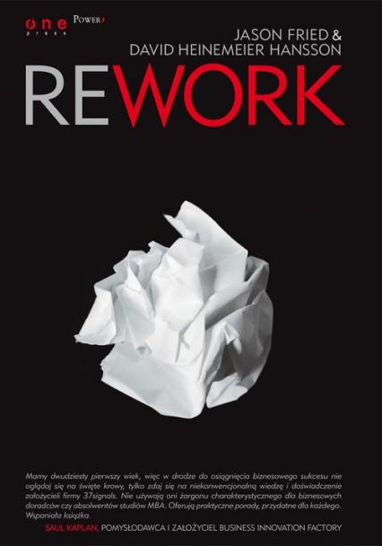 Rework - Fried Jason, Heinemeier Hansson David | okładka