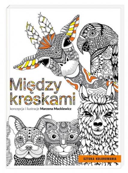 Między kreskami - Marzena Mackiewicz | okładka