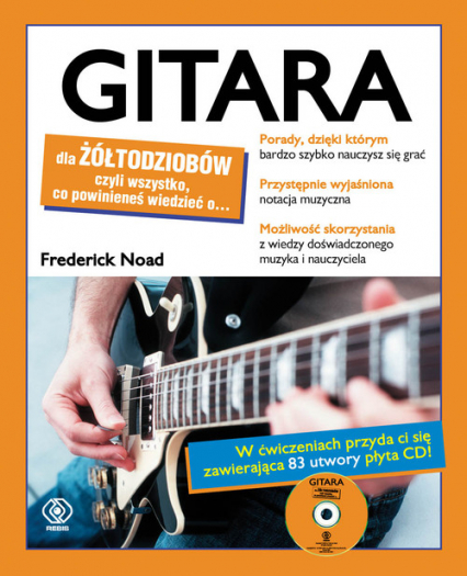 Gitara dla żółtodziobów z płytą CD - Frederick Noad | okładka