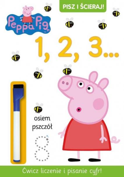 Pisz i ścieraj 1. Świnka Peppa -  | okładka