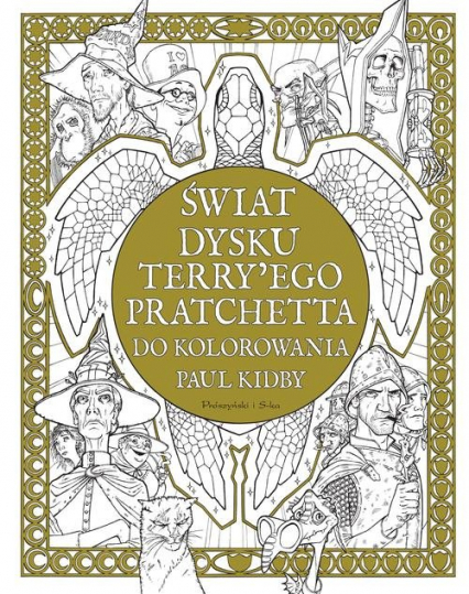 Świat Dysku Terry'ego Pratchetta do kolorowania - Kidby Paul, Pratchett Terry | okładka