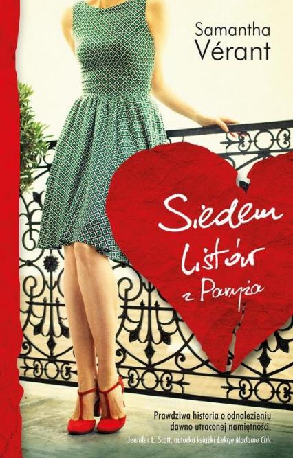 Siedem listów z Paryża - Samantha Verant | okładka