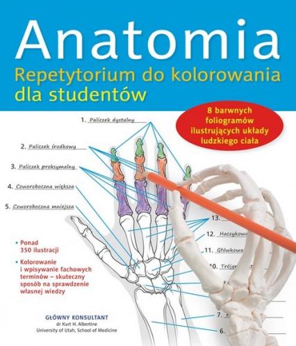 Anatomia. Repetytorium do kolorowania dla studentów - zbiorowa Praca | okładka