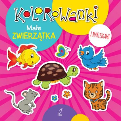Kolorowanki z naklejkami. Małe zwierzątka -  | okładka