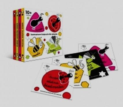 Box 4 kontrastowe książeczki. Bardzo zabiegana mrówka. Bardzo zdolna biedronka Bardzo zalatana pszczoła Bardzo pracowity świetlik -  | okładka