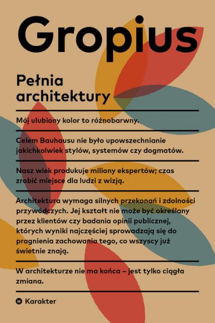 Pełnia architektury - Walter Gropius | okładka