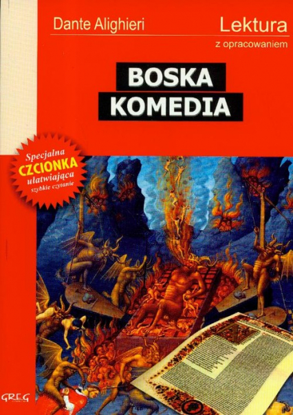 Boska Komedia Lektura z opracowaniem - Dante Alighieri | okładka