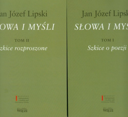 Słowa i myśli Tom 1-2 Pakiet - Lipski Jan Józef | okładka