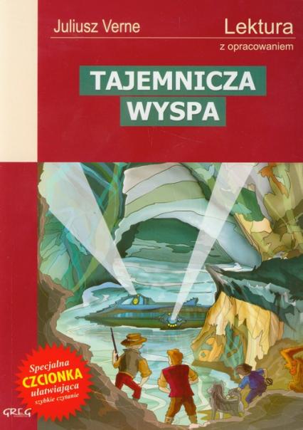 Tajemnicza wyspa Lektura z opracowaniem - Juliusz Verne | okładka