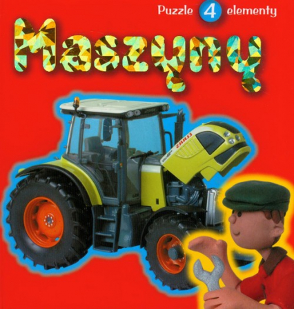 Maszyny Książka z Puzzlami -  | okładka