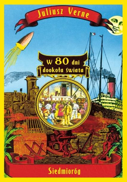W 80 dni dookoła świata - Juliusz Verne | okładka