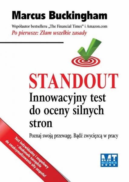 Standout Innowacyjny test do oceny silnych stron - Marcus Buckingham | okładka