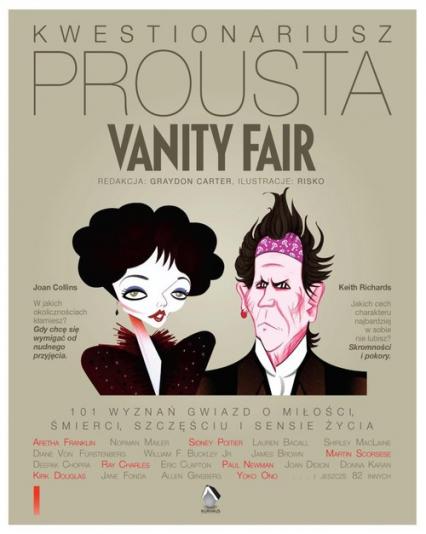 Kwestionariusz Prousta Vanity Fair 101 Wyznań gwiazd o życiu, śmierci, szczęściu i sensie życia - Graydon Carter   okładka