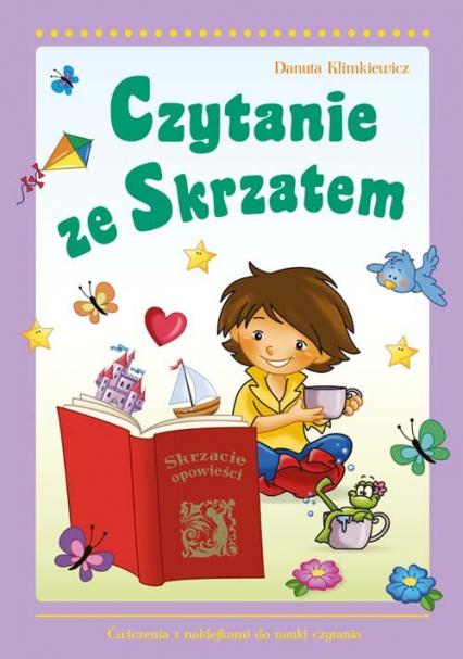 Czytanie ze Skrzatem Ćwiczenia z naklejkami do nauki czytania - Danuta Klimkiewicz | okładka