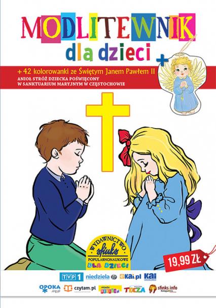 Modlitewnik dla dzieci 42 kolorowanki ze Świętym Janem Pawłem II - Zbiorowa Praca | okładka