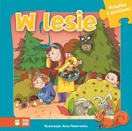 Książka z puzzlami W lesie -  | okładka