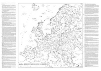 Kolorowanka XXL Mapa Europy Młodego Odkrywcy - zbiorowa praca | okładka
