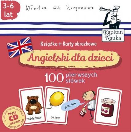 Angielski dla dzieci 100 pierwszych słów Książka + karty obrazkowe -  | okładka