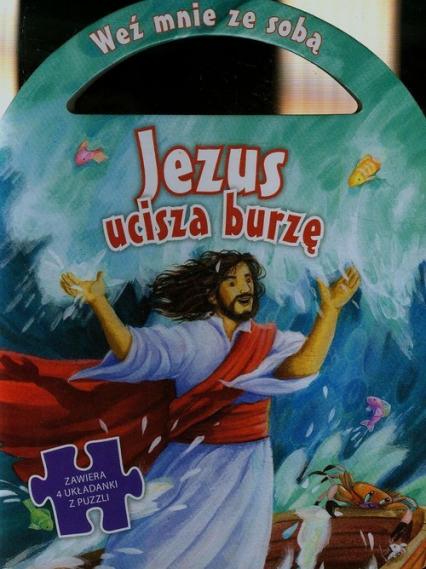 Jezus ucisza burzę Zawiera 4 układanki puzzli -  | okładka