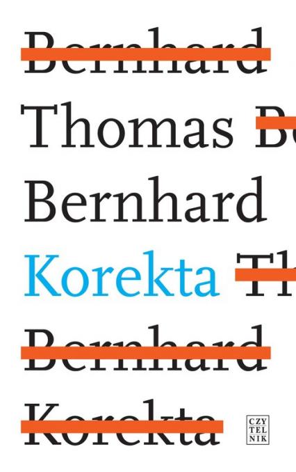 Korekta - Thomas Bernhard | okładka