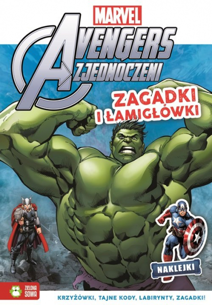 Zagadki i łamigłówki Marvel Avengers -  | okładka