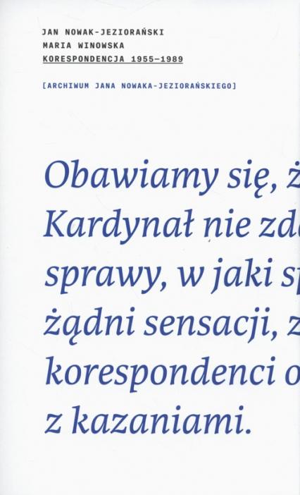 Korespondencja 1955-1989 - Nowak-Jeziorański Jan, Winowska Maria   okładka