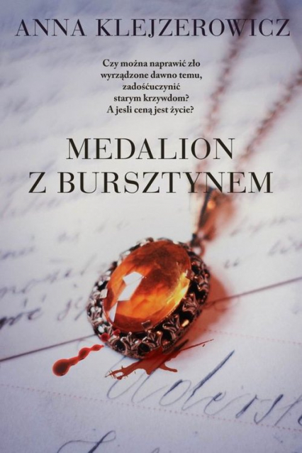 Medalion z bursztynem - Anna Klejzerowicz | okładka