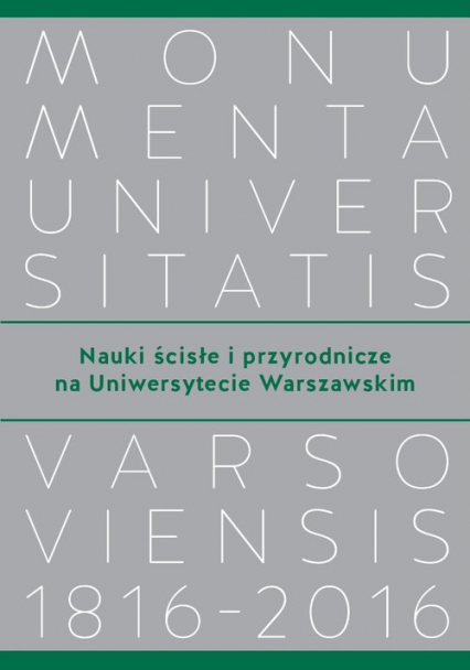 Nauki ścisłe i przyrodnicze na Uniwersytecie Warszawskim -  | okładka