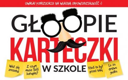 Głoopie karteczki w szkole - Krzysztof Żywczak | okładka