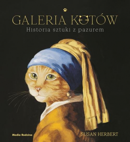 Galeria kotów Historia sztuki z pazurem - Susan Herbert | okładka