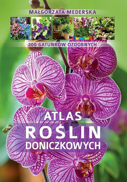 Atlas roślin doniczkowych  200 gatunków ozdobnych - Małgorzata Mederska | okładka