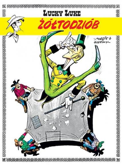 Lucky Luke Żółtodziób - Rene Goscinny | okładka
