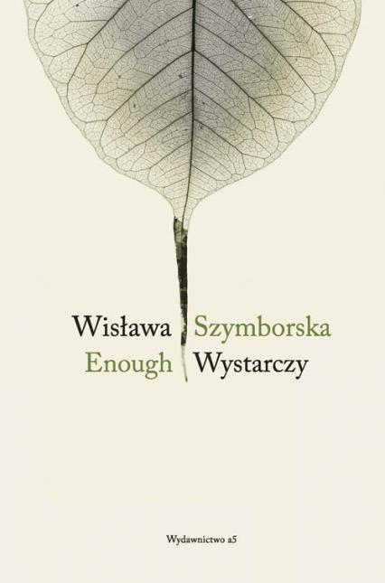 Enough Wystarczy - Wisława Szymborska | okładka